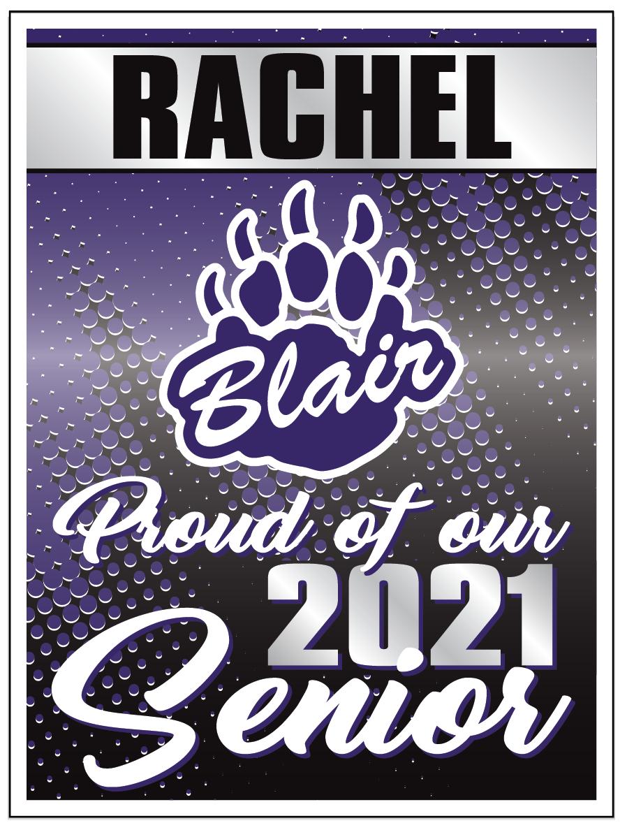 Blair Senior Sign