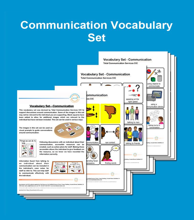 Communication Vocabulary Set