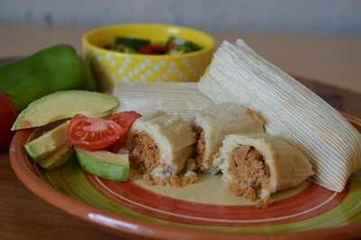 PORK Tamales Qty: 6 (Ship /Frozen)