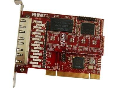Rhino Quad T1/E1 PRI PCI Card w/ Echo Cancellation