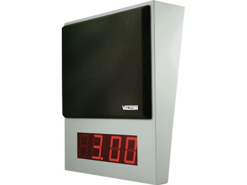 Valcom IP Speaker with Digital Clock - One Way