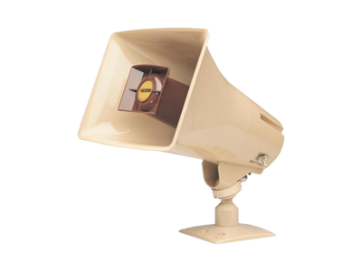 Valcom V-1030C 5-Watt Amplified Horn, Beige