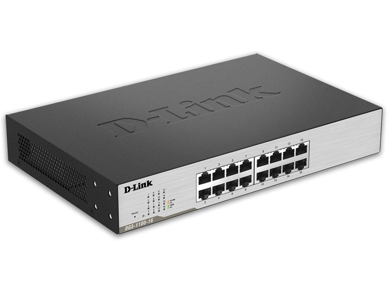 D-Link DGS-1100-16 EasySmart 16-Port Gigabit Switch