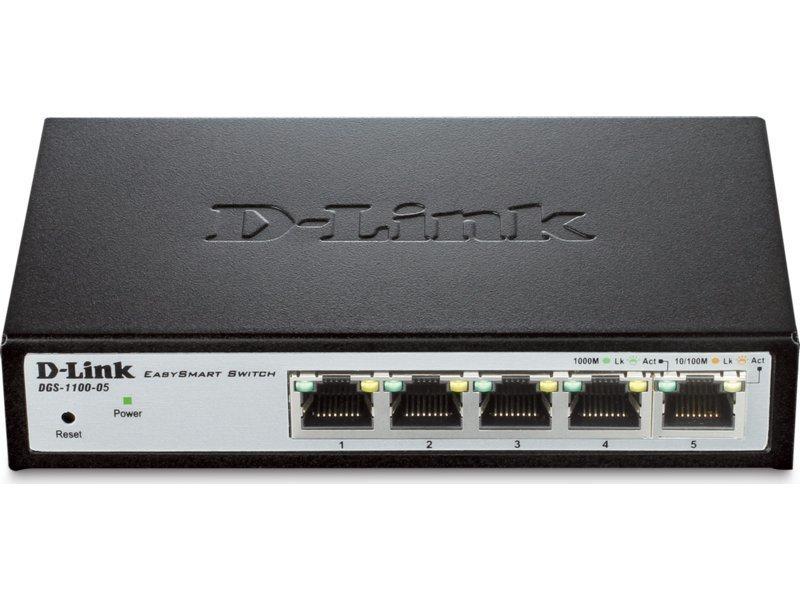 D-Link DGS-1100-05 EasySmart 5-Port Gigabit Switch