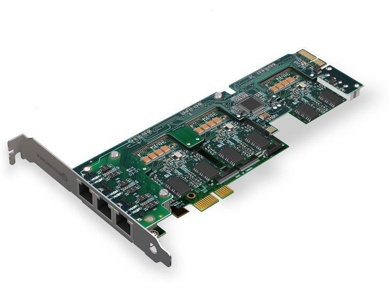 Sangoma A500 2-24 Port Scalable S/T BRI w/ Echo Cancellation. PCIe
