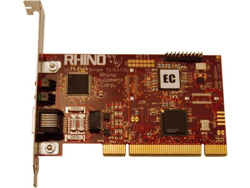 Rhino Single T1/E1 PRI PCI Card w/ Echo Cancellation