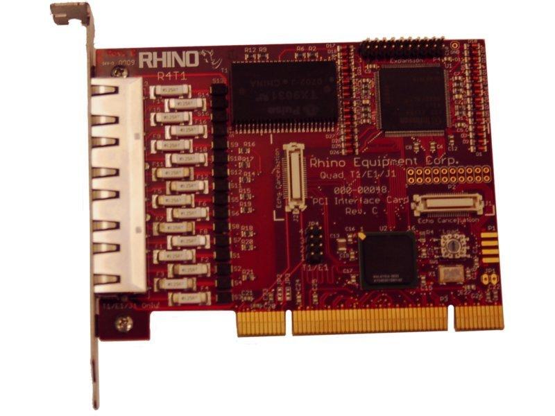 Rhino Quad T1/E1 PRI PCI Card