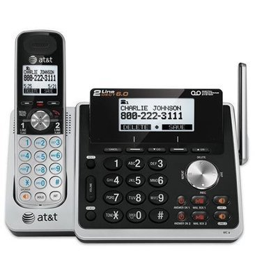 AT&T TL88102 2-Line Cordless System with ITAD