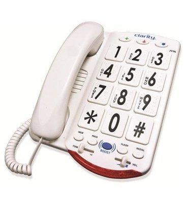 Clarity JV35W 76557.101 50dB Phone Large White Keys