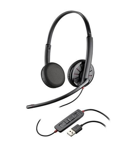 Plantronics 204446-101 Blackwire C325.1-M Stereo Headset
