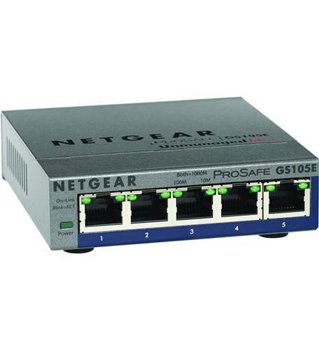 Netgear GS105E-200NAS ProSAFE Plus 5-Port Gigabit Web Managed Switch