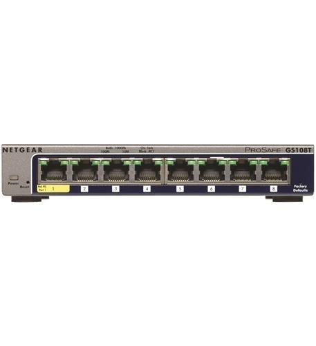 Netgear GS108T-200NAS 8-Port Gigabit Smart Managed Switch