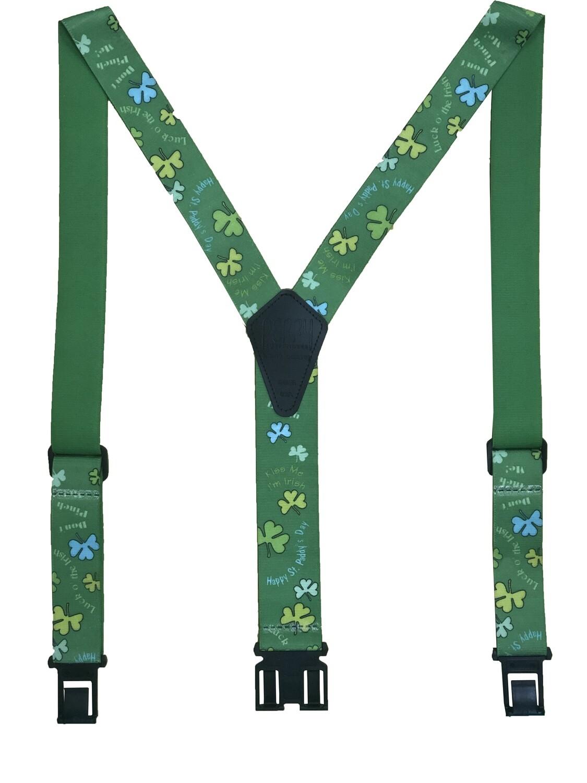 Novelty Perry Suspenders - Irish