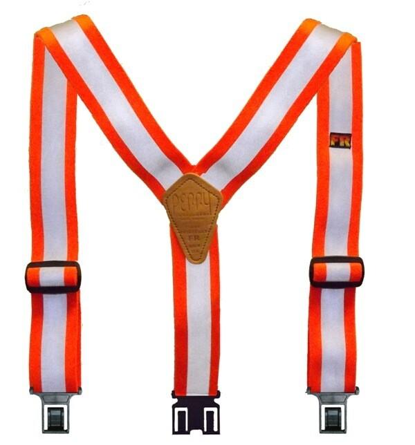 Reflective Flame Retardant Perry Suspenders - Orange