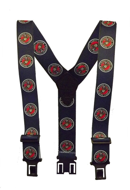 Novelty Perry Suspenders - Marine
