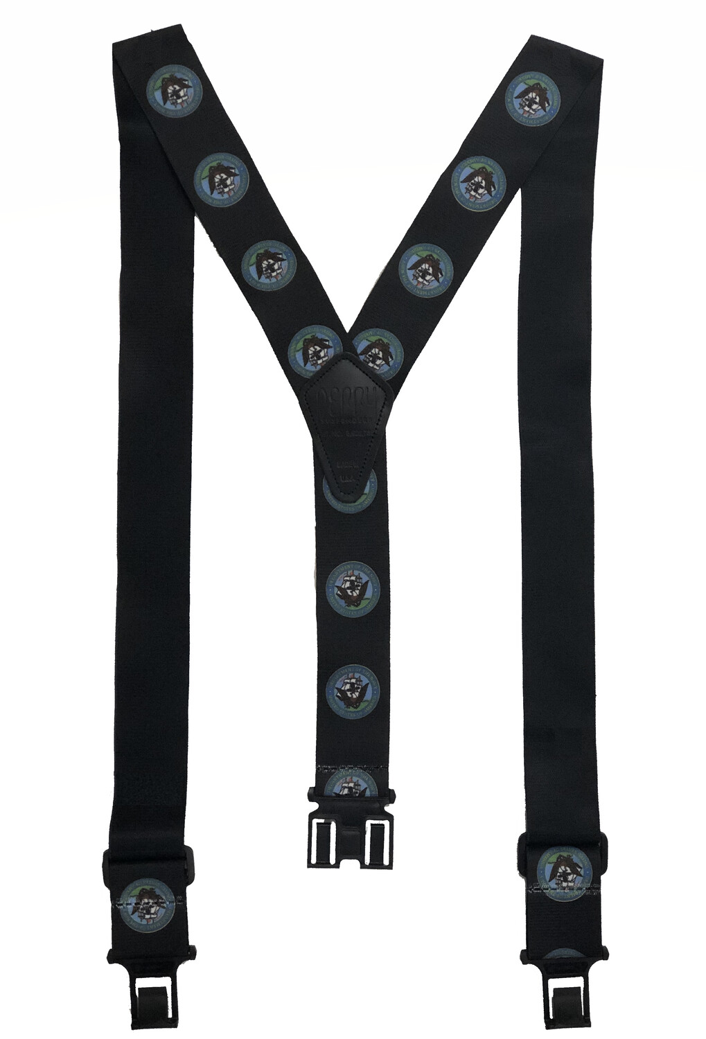 Novelty Perry Suspenders - Navy