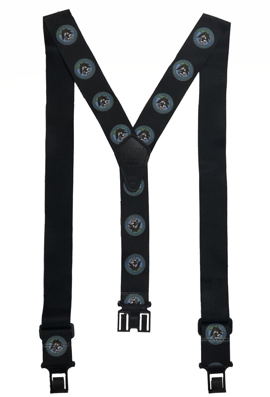Novelty Perry Suspenders - Navy