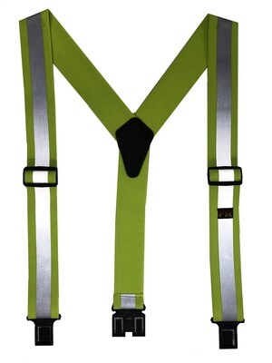 Reflective Flame Retardant Perry Suspenders - Lime