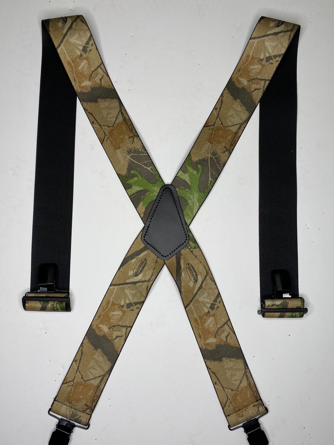 Camouflage Clip-On Suspenders - Realtree Hardwood Green