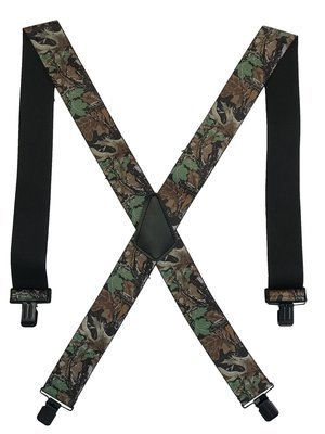 Camouflage Clip-On Suspenders - Advantage Timber