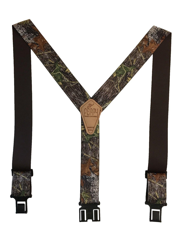 Camouflage Perry Suspenders - Mossy Oak Break-up