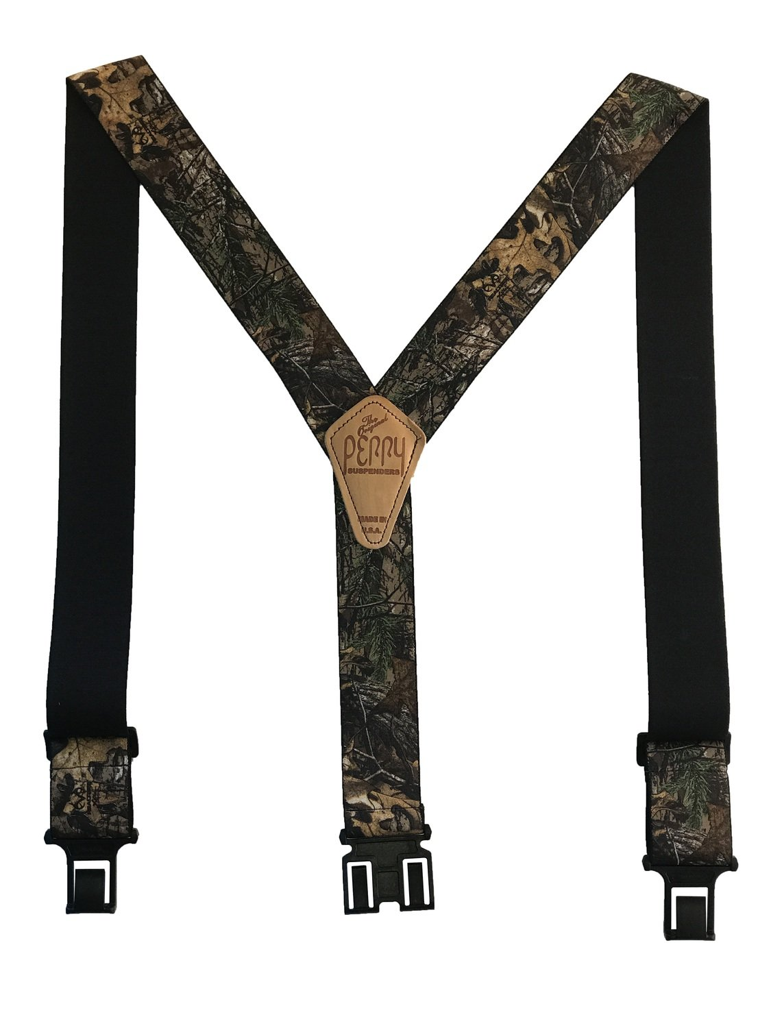 Camouflage Perry Suspenders - Realtree XTRA