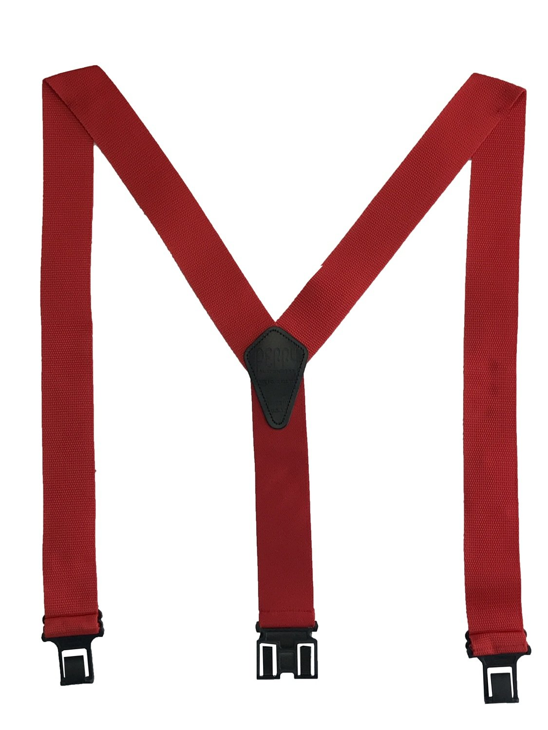 Construction Perry Suspenders - Red