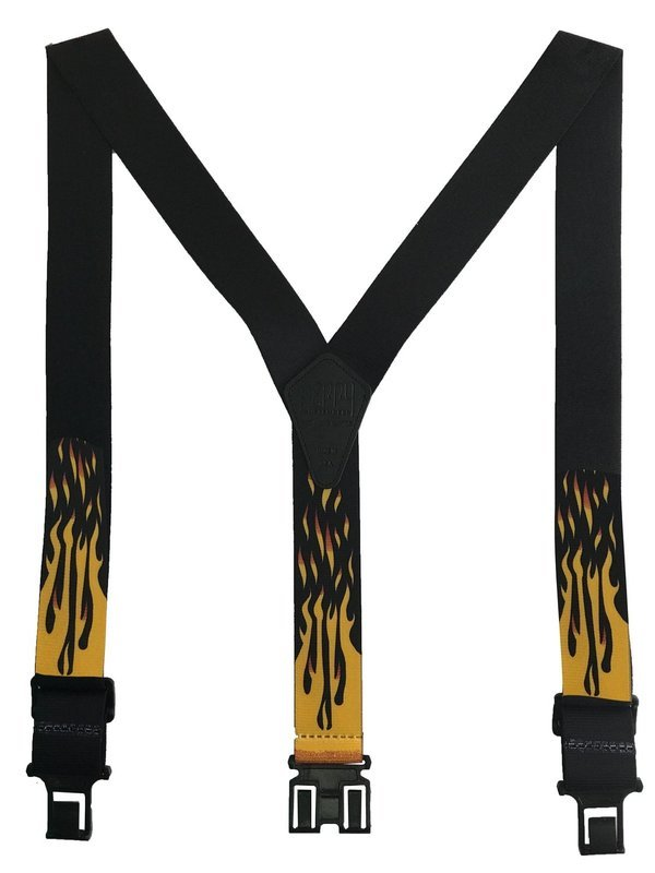 Novelty Perry Suspenders - Flame