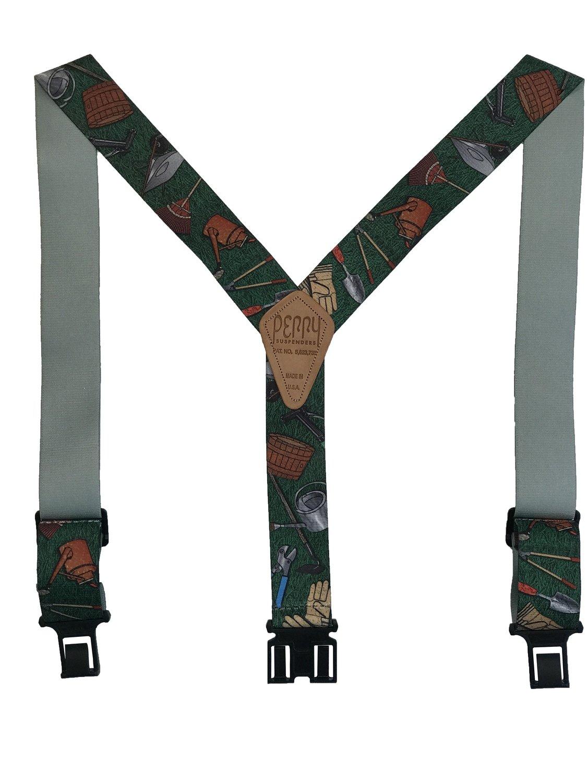 Novelty Perry Suspenders - Gardening Tools