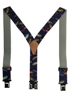 Novelty Perry Suspenders - Mixed Fish