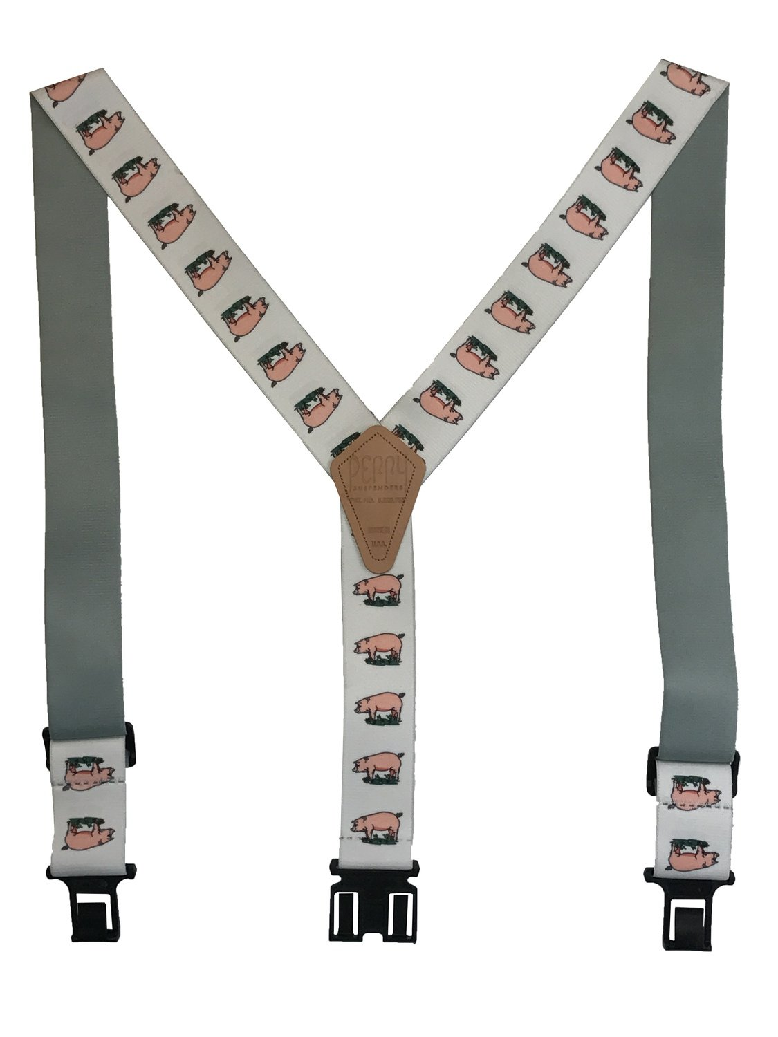 Novelty Perry Suspenders - Pigs