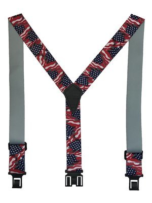 Novelty Perry Suspenders - US Flag
