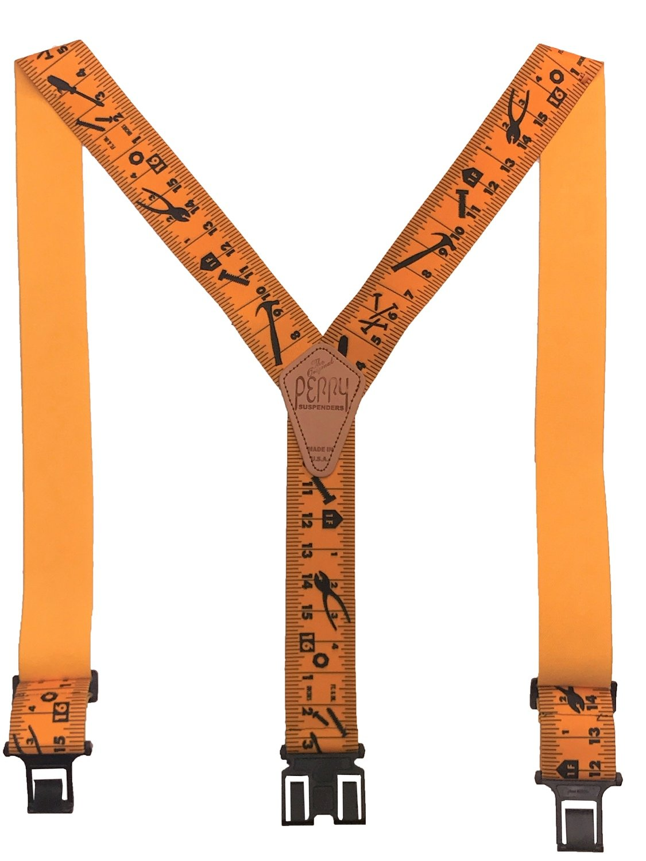 Original Perry Suspenders - Yellow Tape Ruler