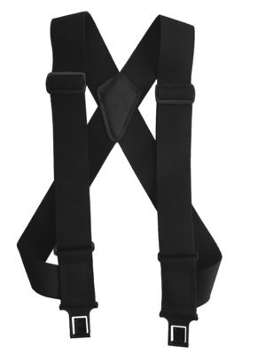 """uBEE Perry Suspenders - Black 1.5"""" and 2"""" widths available"""
