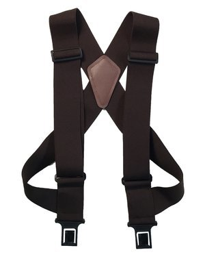 """uBEE Perry Suspenders - Brown 1.5"""" and 2"""" widths available"""