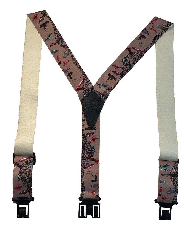 Novelty Perry Suspenders - Fisherman