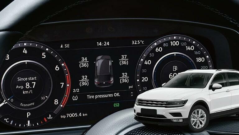 Kit monitoraggio diretto pressione pneumatici per   Volkswagen, Audi, Seat, Skoda
