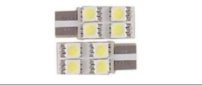 Kit lampade T10  4 led 1 lato