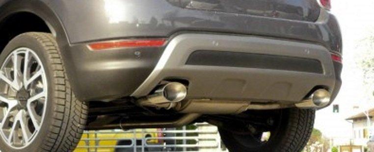 Terminale scarico posteriore sdoppiato Ragazzon per Fiat 500X 2.0 MJT 4×4 omologazione CEE