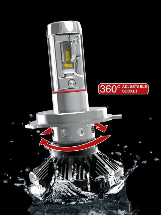 Nuovo kit conversione fari H7 a led 6000 lumen Zes 2°G.