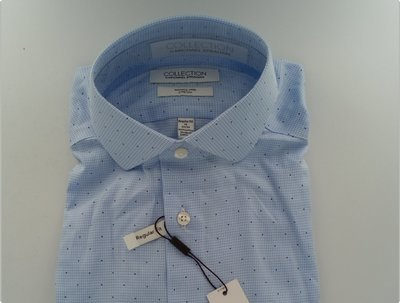 Collection by Michael Straham - Wrinkle Free Cotton Stretch Long Sleeve Wooven Dress Shirt