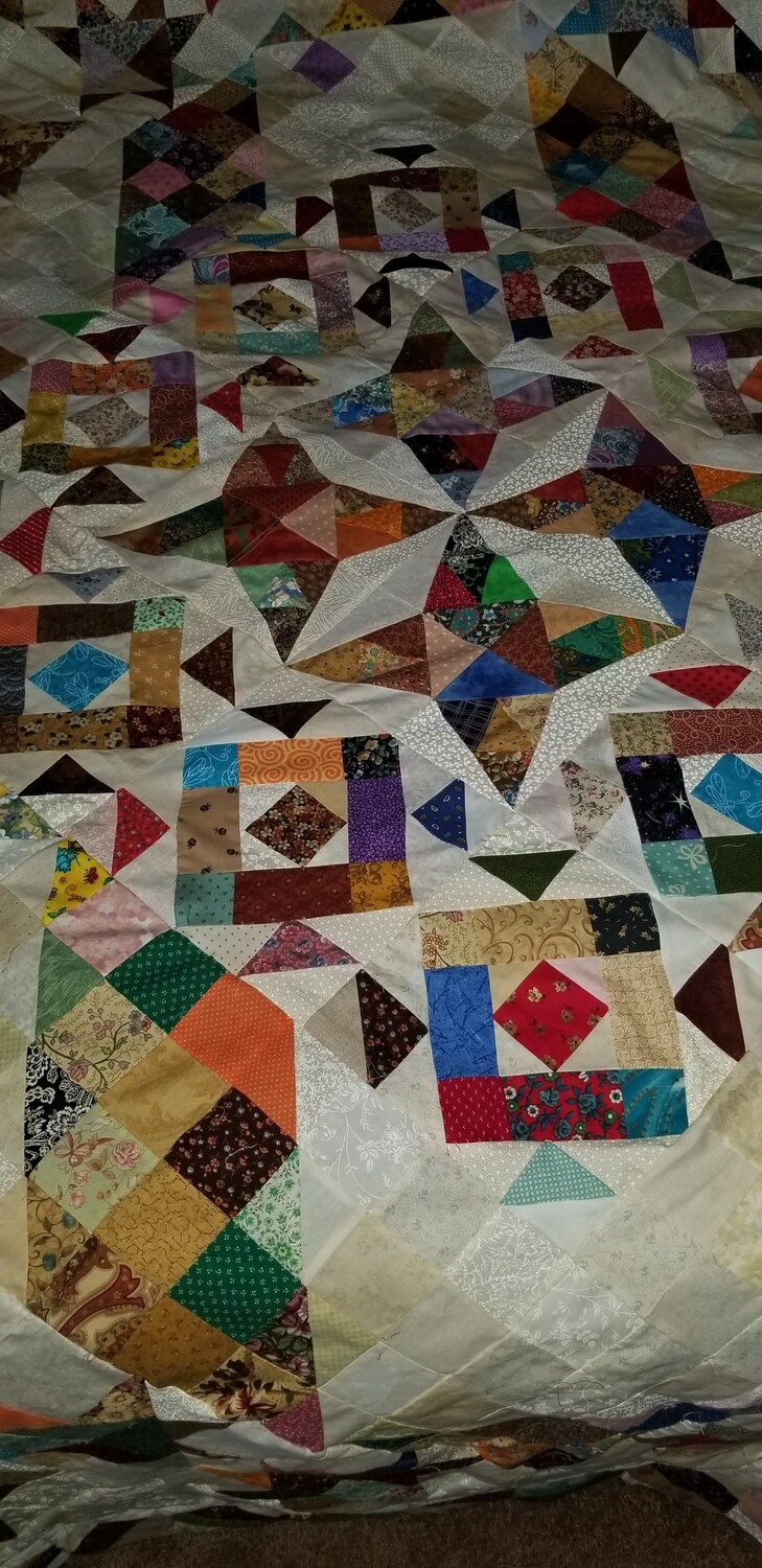 Old fashion scrap quilt