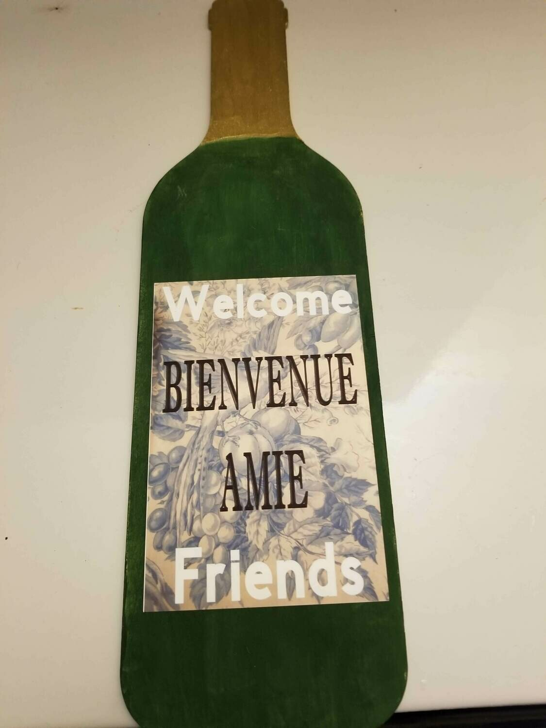 Wooden Wine Bottle Door Hanger