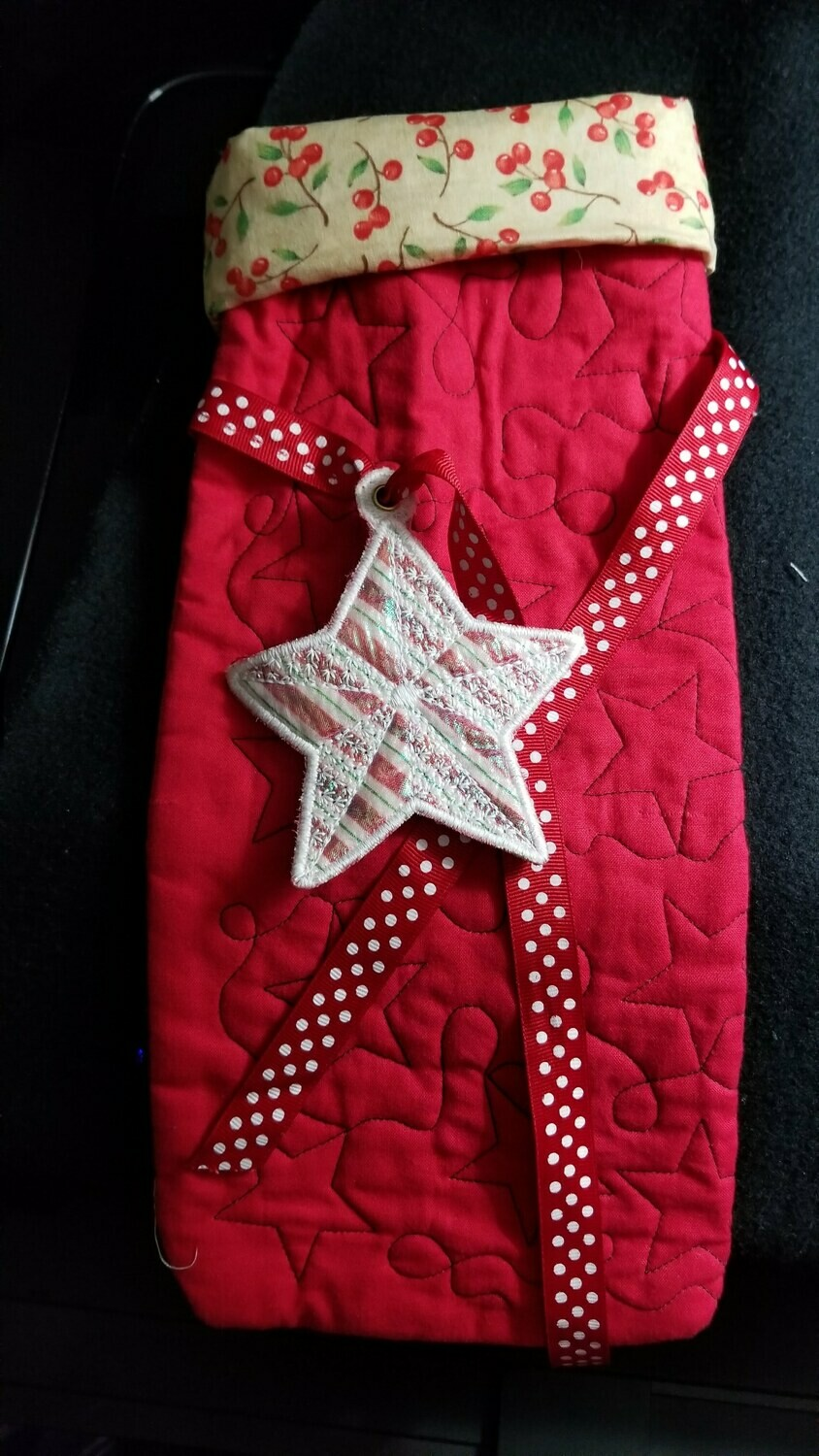 Quilted Wine Gift Bag