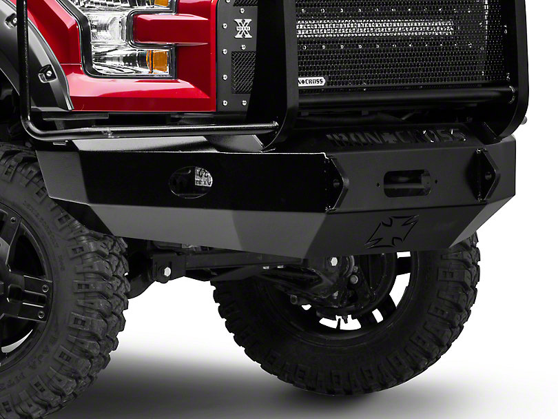 1/2 TON-IRON CROSS Front Base Bumper W/ CSI 9500lb Winch