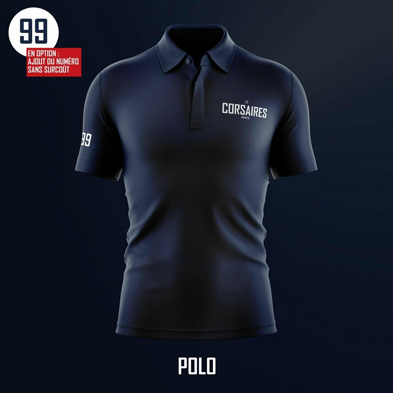 """Polo """"Corsaires"""" bleu marine"""