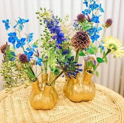 "The Aligo Gold ""Fanny Fennel"" Vase 17x20cm Ceramic"