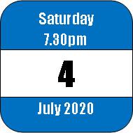 Saturday 4 July 2020