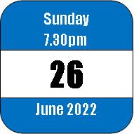 Sunday 26 June 2022