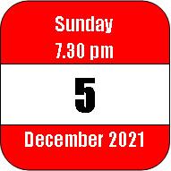 Sunday 5 December 2021